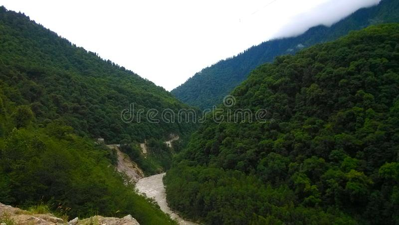 在青海西藏高原的山 图库摄影