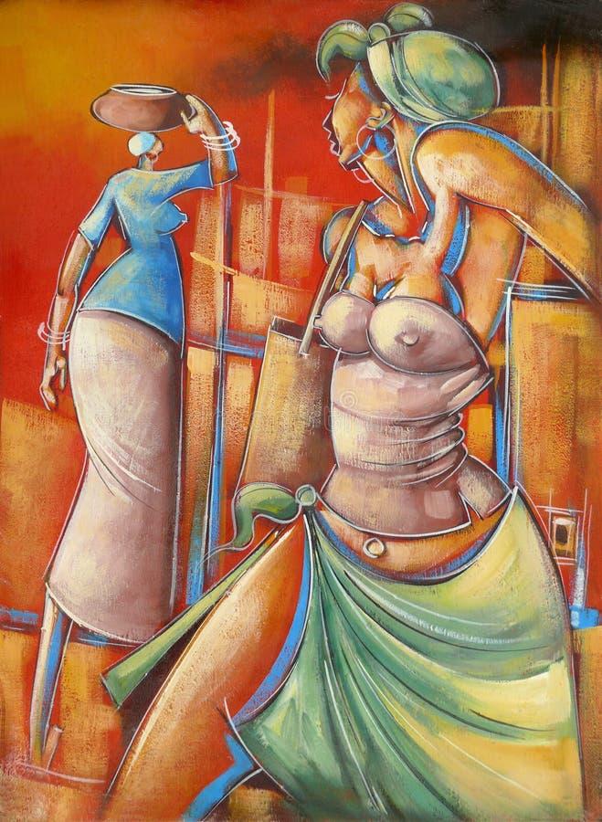 画在非洲人民的生活。 库存例证