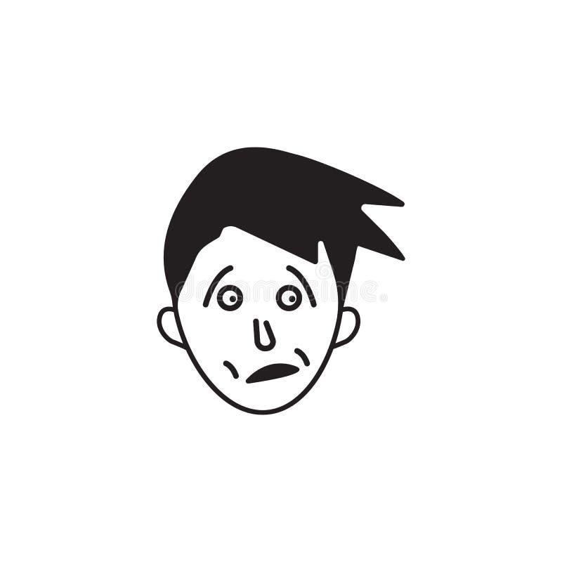 在面孔象的恐惧 人的情感元素例证的元素 优质质量图形设计象 标志和标志col 皇族释放例证