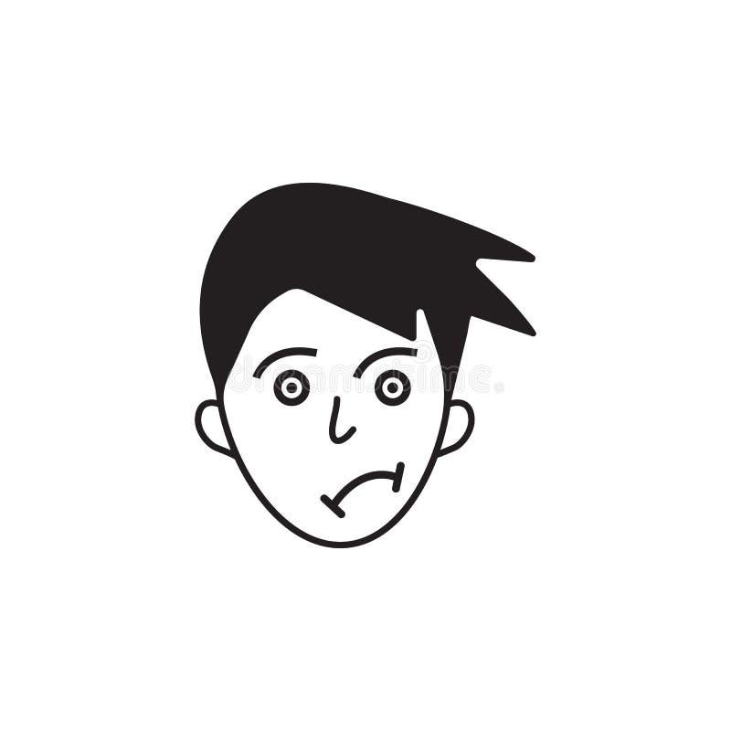 在面孔象的牢骚 人的情感元素例证的元素 优质质量图形设计象 标志和symbo 皇族释放例证