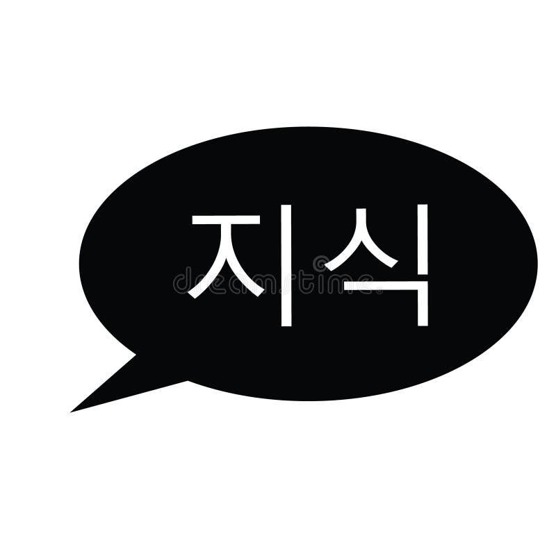 在韩语的知识邮票 皇族释放例证