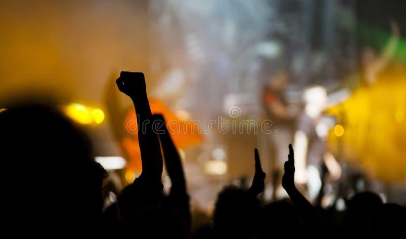 在音乐会的人群 免版税库存照片
