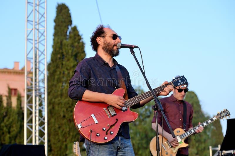 在音乐会的Grupo de Expertos Solynieve带在维达节日 库存照片