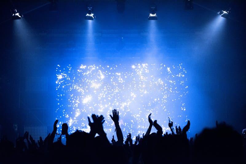 在音乐音乐会的人群 图库摄影