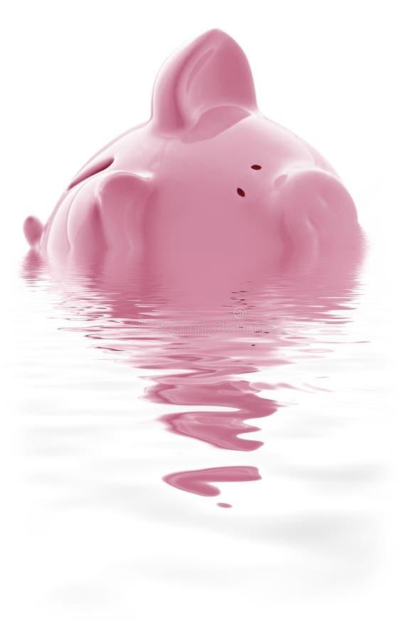 在顶头水之上 免版税库存图片