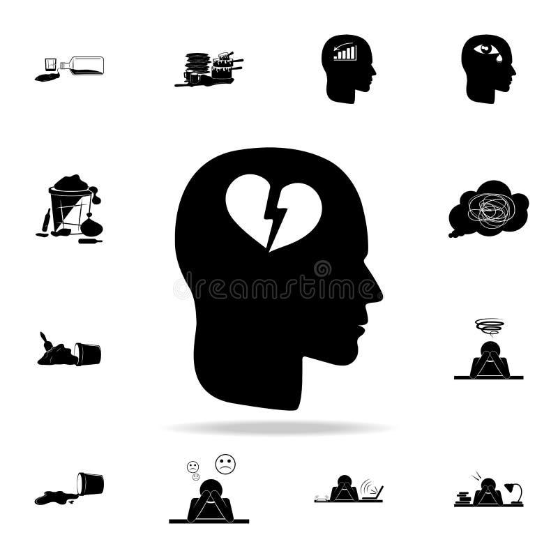 在顶头象的伤心 详细的套混乱元素象 优质图形设计 其中一个汇集象为 库存例证