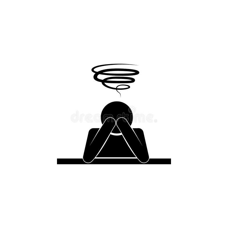 在顶头象的混乱 人象心理障碍的例证  优质质量图形设计 标志和symbo 向量例证