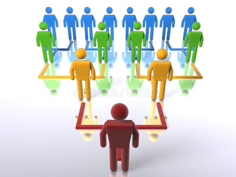 在顶层的底部企业层次结构 库存例证