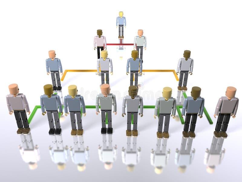 在顶层的底部企业层次结构 向量例证