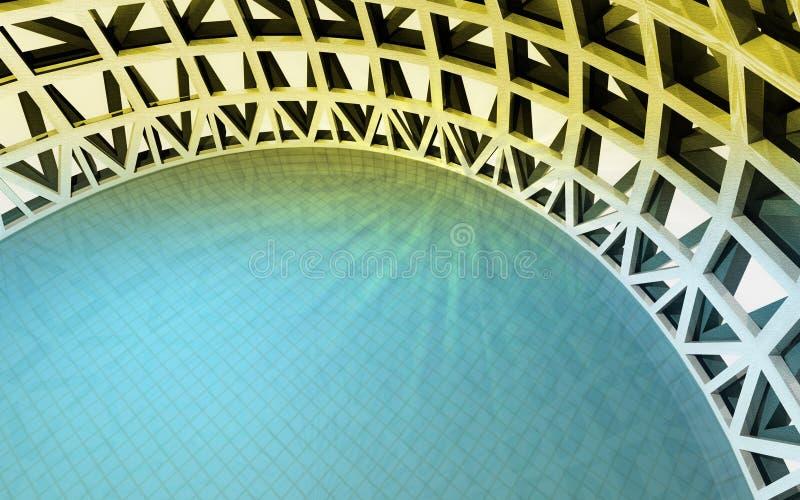 在顶视图的魔术游泳池 免版税库存照片