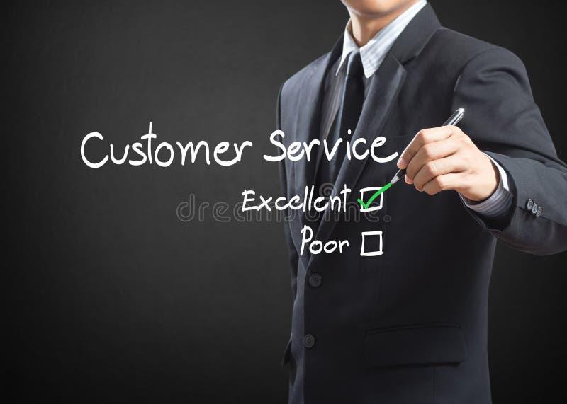 在顾客服务的优秀复选框 免版税图库摄影