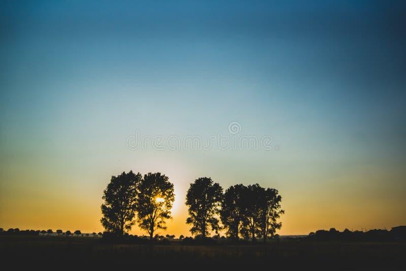 在领域的日落 免版税图库摄影