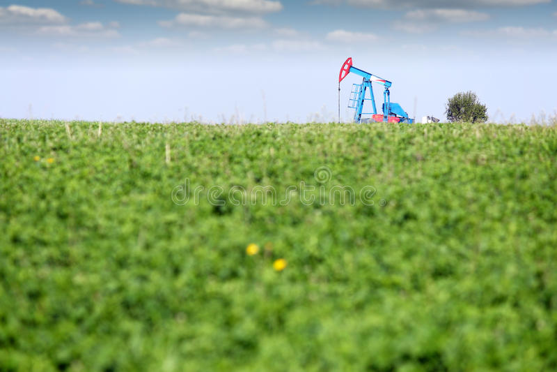 在领域的油泵起重器 库存照片