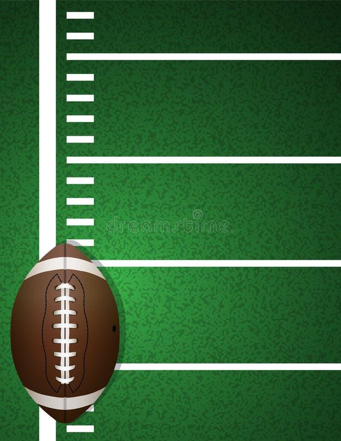 在领域背景的橄榄球 向量例证