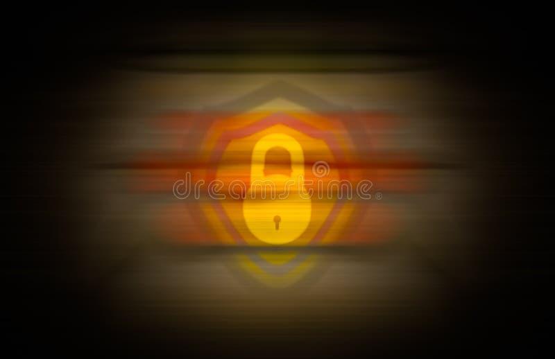 在颜色和小插图无缝的背景的黄色锁混合 皇族释放例证