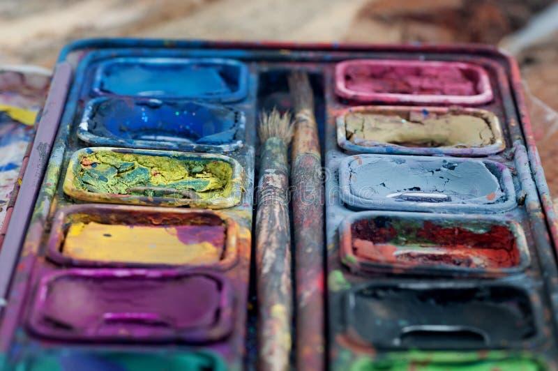 在颜色和纹理的焦点 库存图片