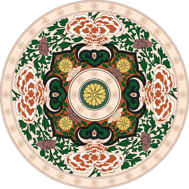 在颜色的印地安传统样式 库存例证