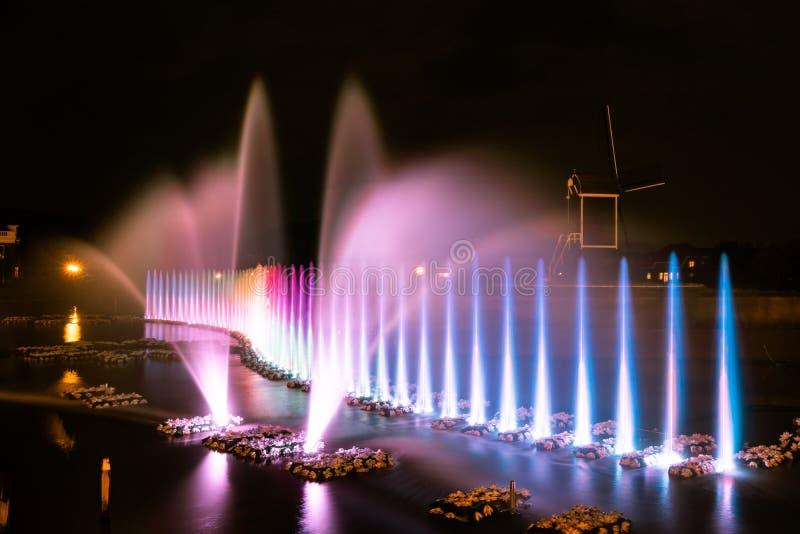 在颜色的喷泉 库存照片