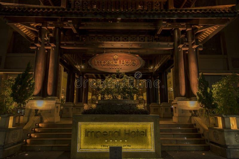 在颜色的帝国饭店 库存图片