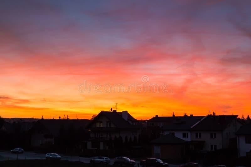 在颜色的日落 库存图片