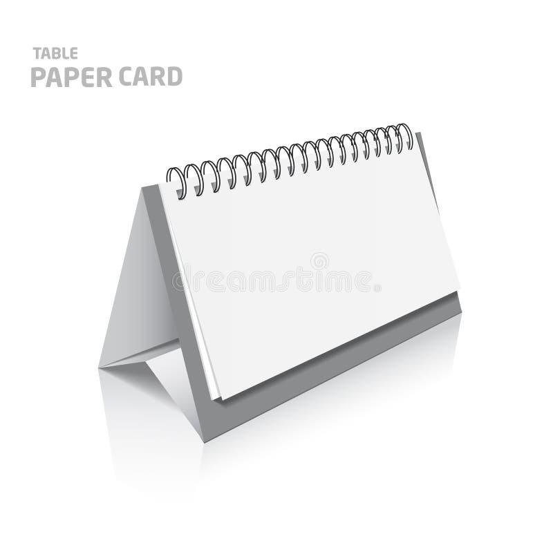 在颜色的白色3d模型隔绝的空白的日历设计 库存例证