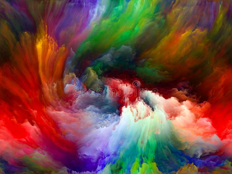 在颜色行动之外 向量例证