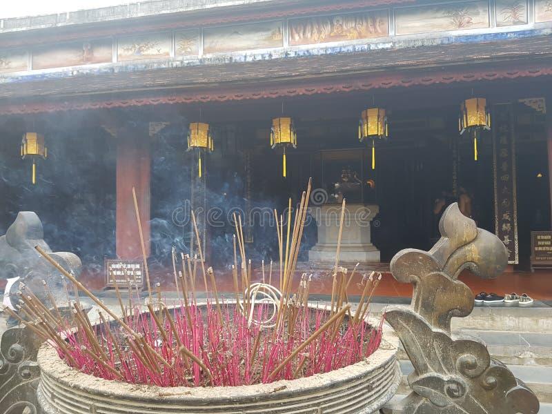 在颜色越南的寺庙 免版税图库摄影