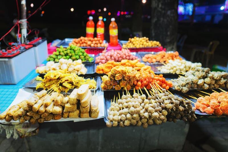 在颜色越南的街道食物 免版税库存照片