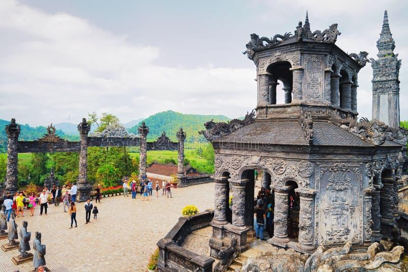 在颜色越南的阮福昶坟茔 免版税库存图片
