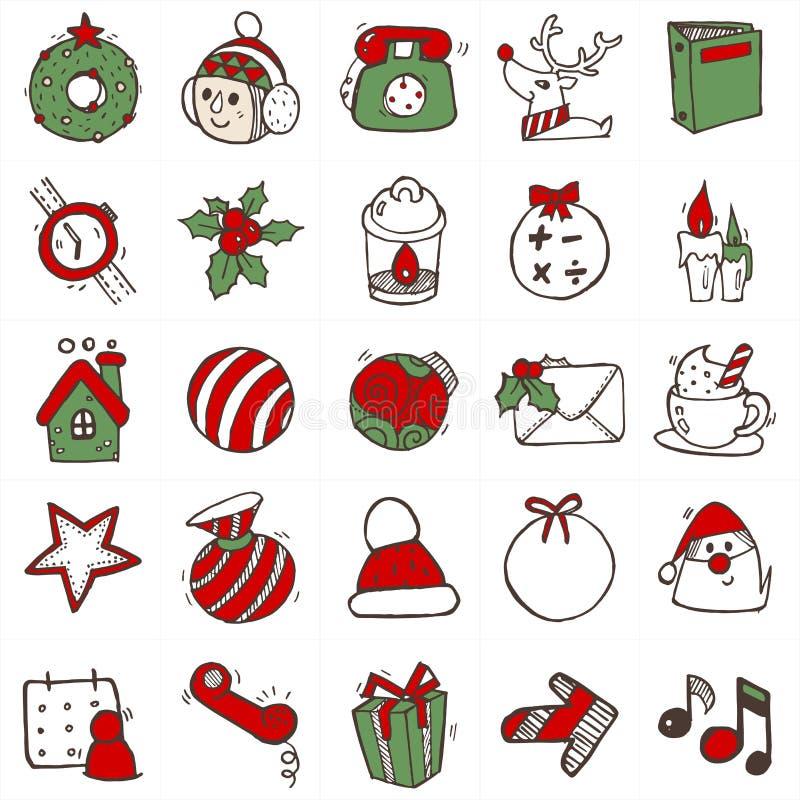 在颜色B的圣诞节画的象 库存例证