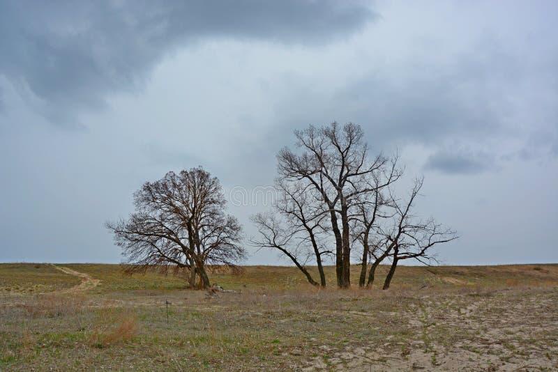 在风暴之前的风景 图库摄影