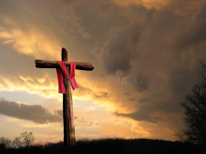 在风暴的十字架 图库摄影