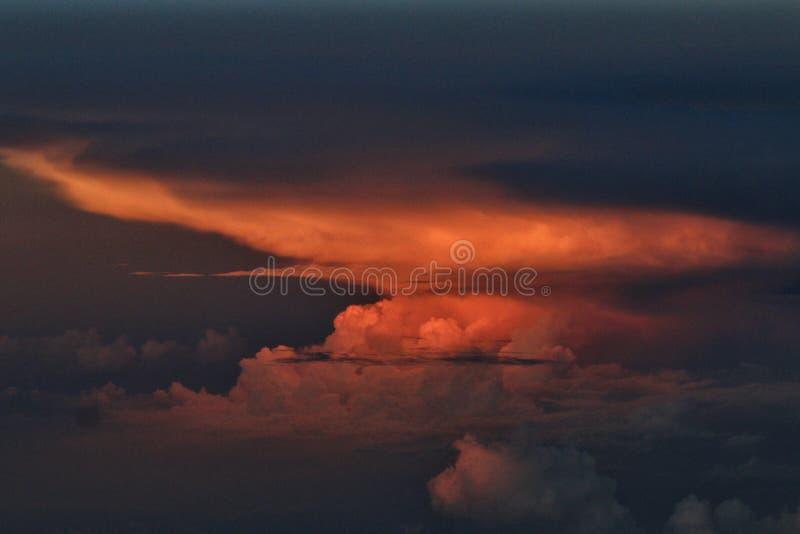 在飞机上看见的云彩 免版税图库摄影
