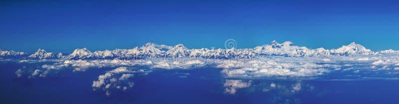在飞机上看见的喜马拉雅山 库存图片
