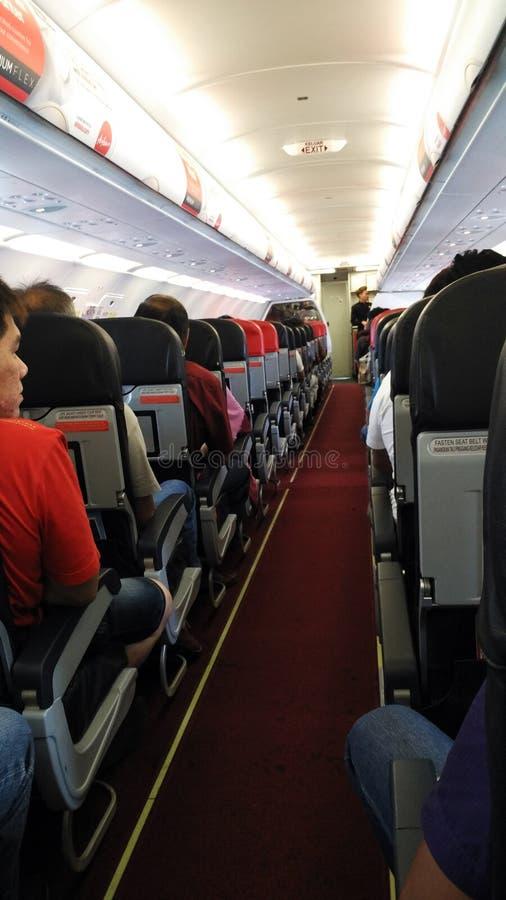 在飞机的路 库存图片