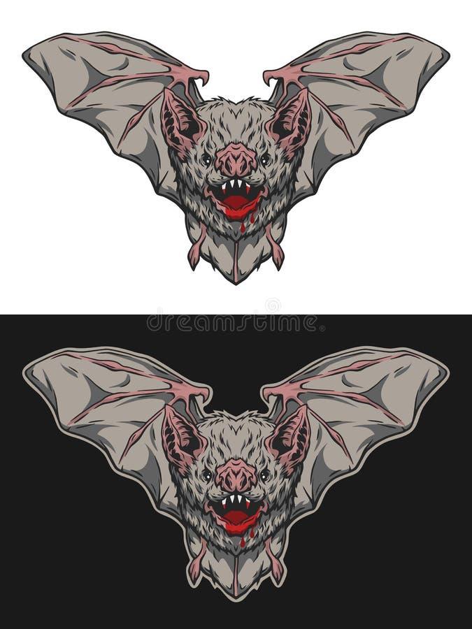 在飞行中吸血蝙蝠 皇族释放例证