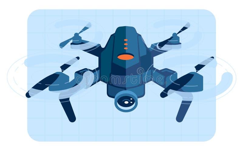 在飞行中寄生虫直升机 皇族释放例证