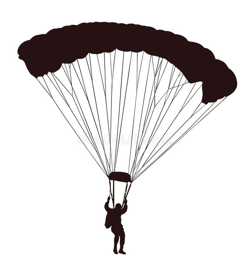 在飞行中飞将军剪影 库存例证