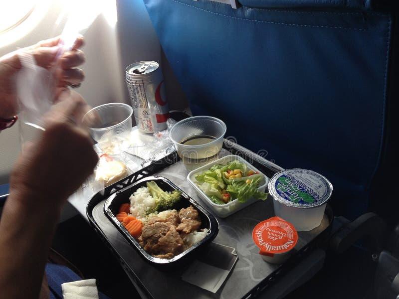 在飞行期间的生活从夏威夷到大陆西雅图美国 免版税库存照片