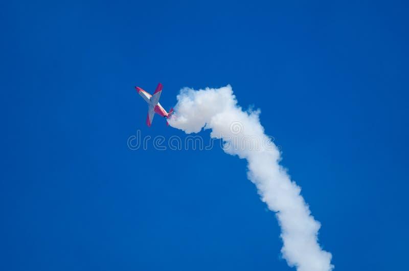 在飞行表演的飞行动力学的摊位 库存图片