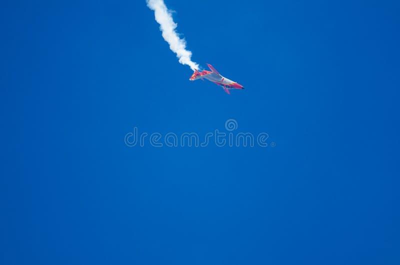 在飞行表演的飞行动力学的摊位 免版税库存照片