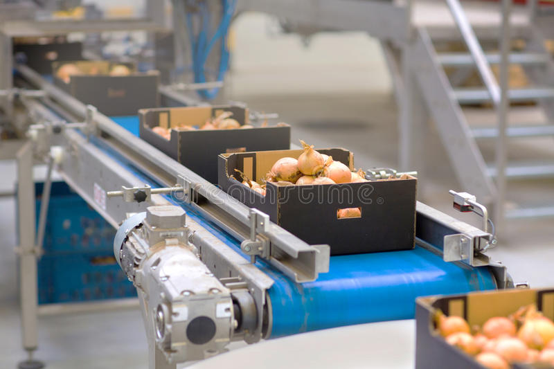 在食品工业的机器 免版税库存图片