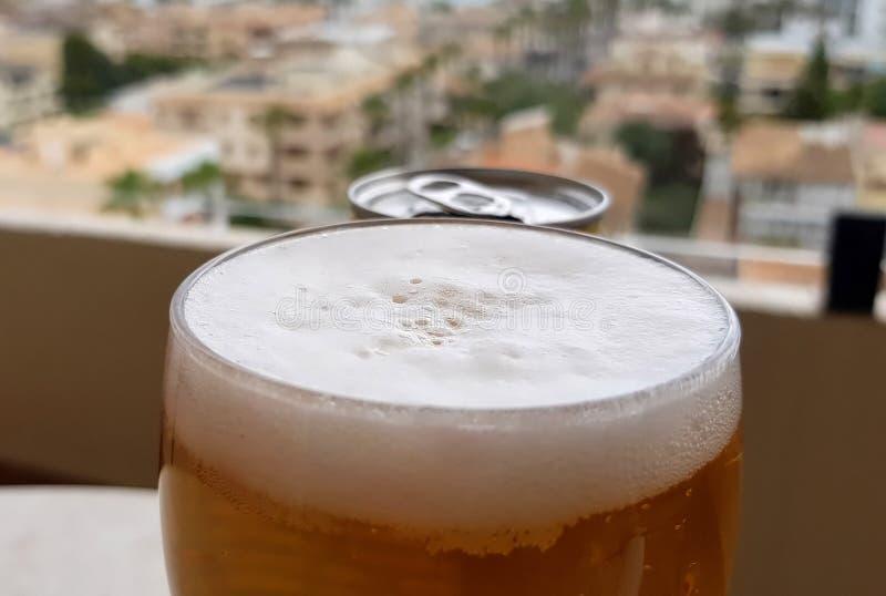 在餐馆的汽水在马略卡 图库摄影