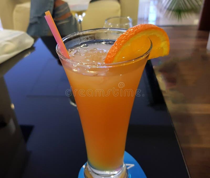 在餐馆的汽水在马略卡 库存照片