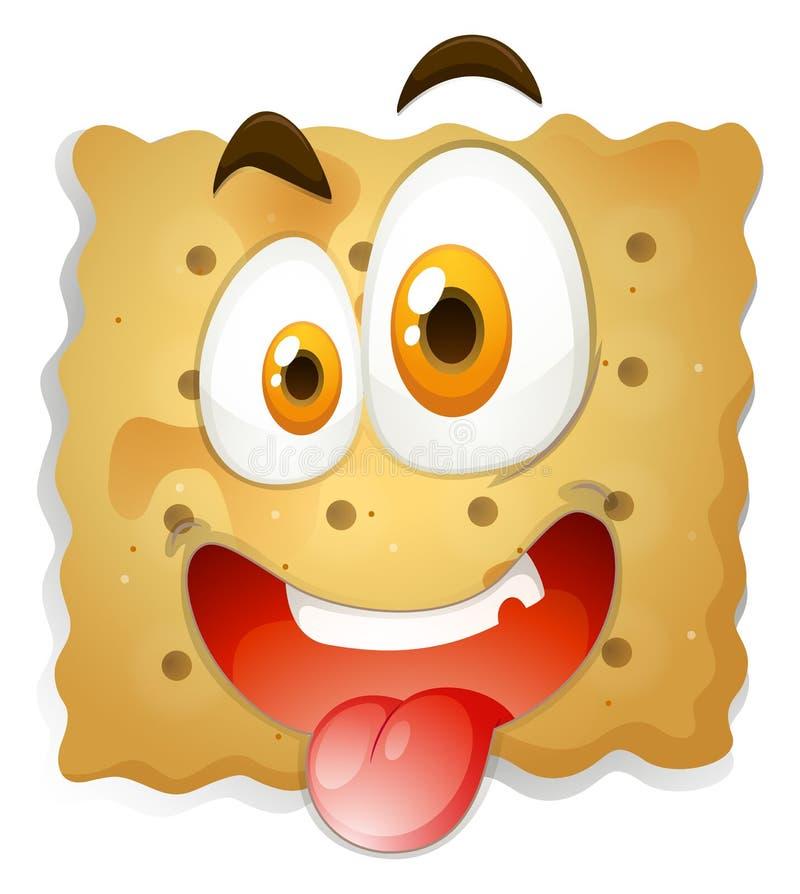 Download 在饼干的愉快的面孔 向量例证. 插画 包括有 烘烤, 空白, 细菌学, 点心, 食物, 照片, 快餐, 面部 - 59108054