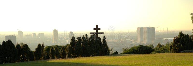 在首都布拉索夫的看法从Slavin 库存图片