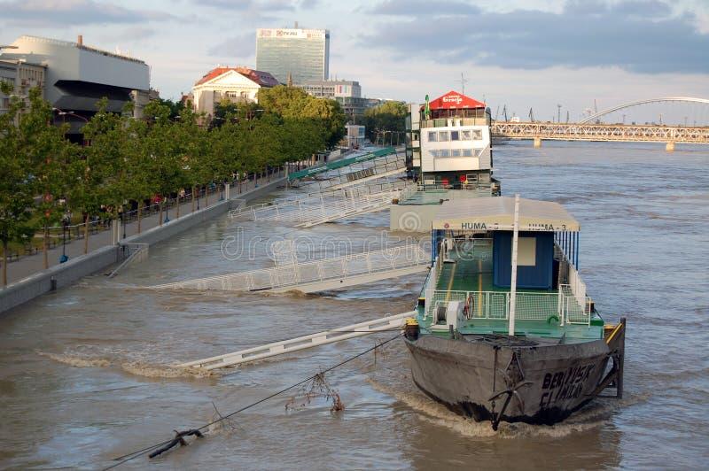洪水在首都 免版税库存照片