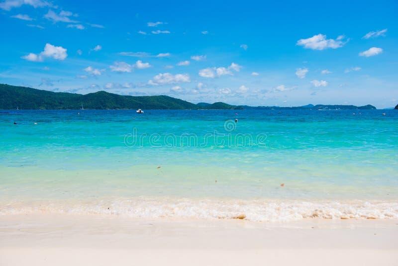 在香蕉海滩,珊瑚岛,酸值的热带海滩嘿 库存照片
