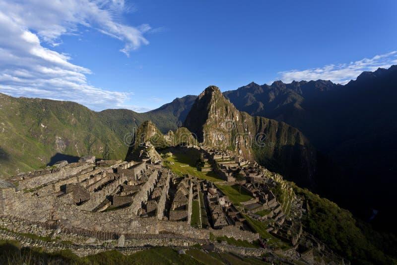 在马丘比丘,秘鲁的清早 免版税库存图片