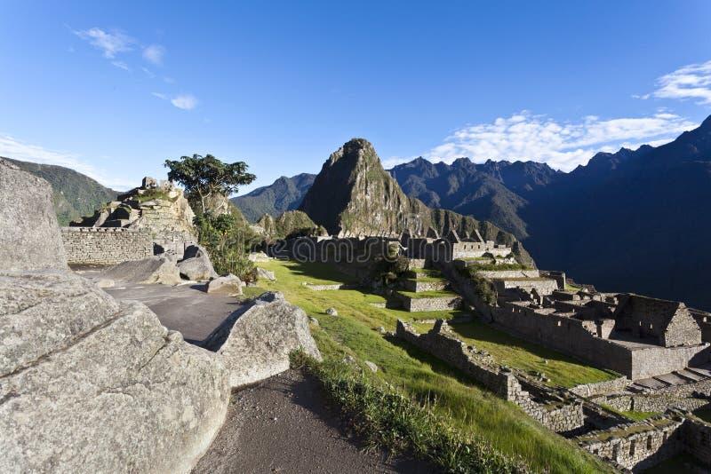 在马丘比丘,秘鲁的清早 库存图片
